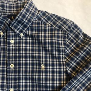 Ralph Lauren Button Down Plaid Shirt Medium 10-12